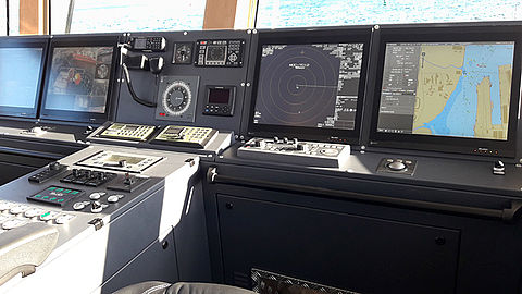 DuraVision monitors on the fireboat